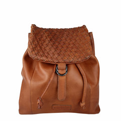 manbefair BACKPACK ROSALIE leather reddisch brown