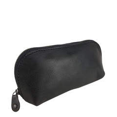 manbefair SMALL MAKE-UP BAG LONA leather black