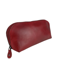 manbefair SMALL MAKE-UP BAG LONA leather red