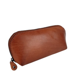 manbefair SMALL MAKE-UP BAG LONA leather reddish brown