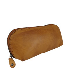 manbefair SMALL MAKE-UP BAG LONA leather cognac