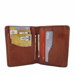 manbefair CARD CASE RIGA leather reddish-brown