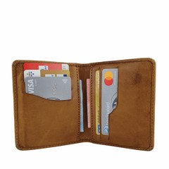 manbefair CARD CASE RIGA leather cognac