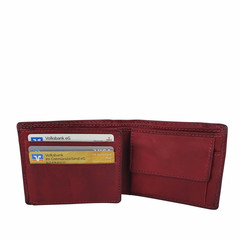 manbefair SMALL WALLET KOPENHAGEN leather red