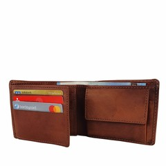 manbefair SMALL WALLET KOPENHAGEN leather reddish brown