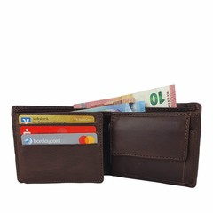 manbefair SMALL WALLET KOPENHAGEN leather dark brown
