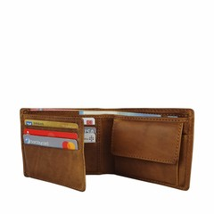 manbefair SMALL WALLET KOPENHAGEN leather cognac