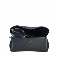 manbefair GLASSES CASE TRONDHEIM leather black