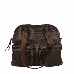 manbefair VINTAGE SHOPPER HENRIETTA  leather darkbrown