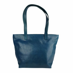 Tutto Naturale SHOPPER MAXI Leder petrol