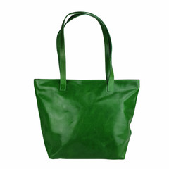 Tutto Naturale SHOPPER MAXI Leder grün