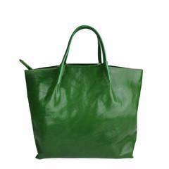 Tutto Naturale SHOPPER LINDA Leder grün