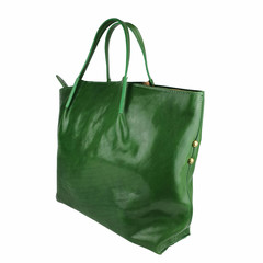 Tutto Naturale SHOPPER LINDA leather green