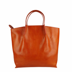 Tutto Naturale SHOPPER LINDA leather orange