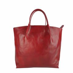 Tutto Naturale SHOPPER LINDA leather red