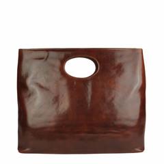 T-Nobile SHOPPER BUCO XL Leather marone