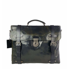 LAPTOPBAG  WINSTON leather forrest black