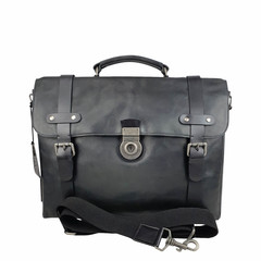 LAPTOPBAG  WINSTON leather navy-black
