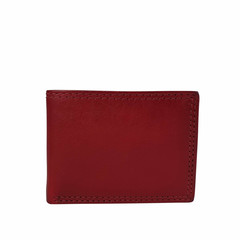 manbefair MINI WALLET MALMÖ leather red