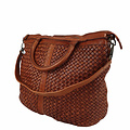 SHOPPER BAG LUCILLE Leather red-brown