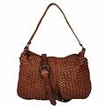 SHOULDER BAG CÉCILE Leather reddish brown