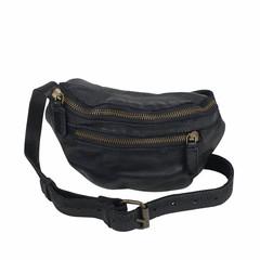 UNISEX BELT BAG LOVIS Leather black
