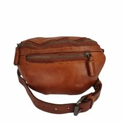 UNISEX BELT BAG LOVIS Leather reddish brown