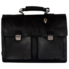 CHARLES BRIEFCASE black leather