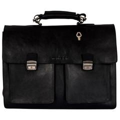 manbefair CHARLES BRIEFCASE black leather