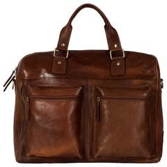 TRAVEL BAG VENEZIA leather brown