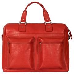 TRAVEL BAG VENEZIA leather red croco