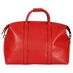 manbefair PARIS TRAVEL BAG red croco leather