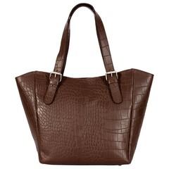 ACELYA SHOPPER leather brown croco