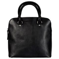 manbefair HANDBAG LIZ leather black