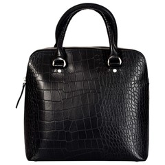 manbefair HANDBAG LIZ leather black croco