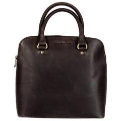 manbefair HANDBAG LIZ leather brown waxed