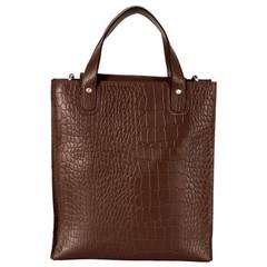 LINN SHOPPER leather brown croco