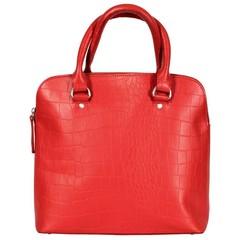 HANDBAG LIZ  leather red croco