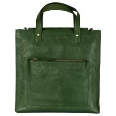 SHOPPER JANE leather green