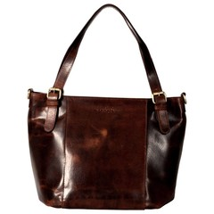 LAYLA SHOPPER antique brown leather
