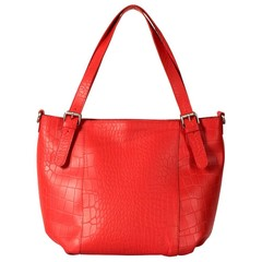LAYLA SHOPPER red croco leather