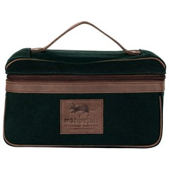 BOLOGNA TOILETRY BAG green canvas