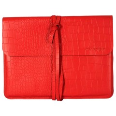 manbefair LAPTOP CASE LIVERPOOL red croco leather