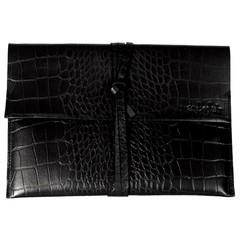 TABLET CASE KENSINGTON black croco leather