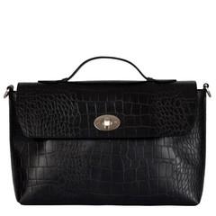manbefair CASSANDRA HANDBAG black croco leather