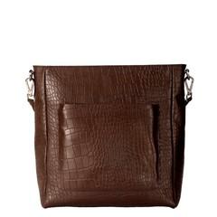 manbefair LIVIA SHOPPER brown croco leather