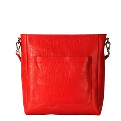 manbefair SHOPPER LIVIA  leather red croco