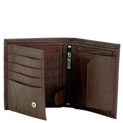WALLET MIAMI brown croco leather