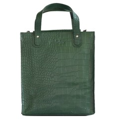manbefair LINN SHOPPER leather green croco