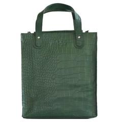 manbefair SHOPPER LINN Leder grün kroko